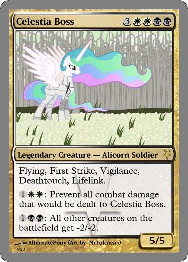 Celestia Boss mtg by alternatepony