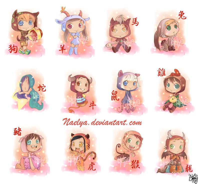 chibi zodiac by naelya