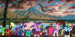 Power Ponies With Dinosaurs by KayMan13