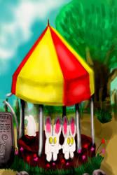 Broken carousel by corleno