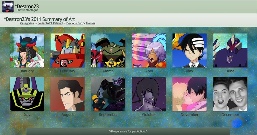 Destron23's 2011 Summary of Art by Destron23