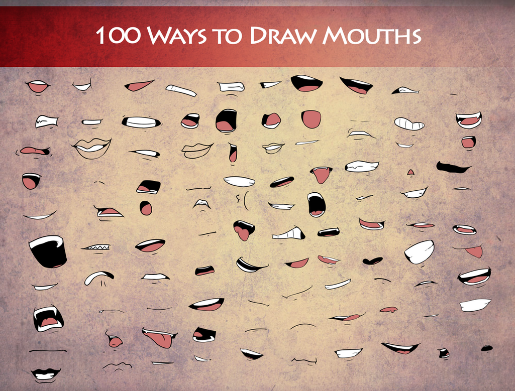 100 Ways To Draw Mouths by Destron23 on DeviantArt