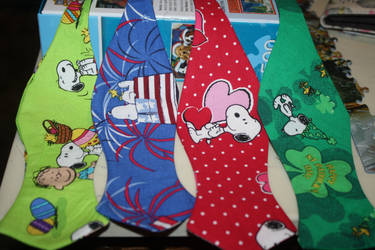 Snoopy Bow Ties by Darkwisher93