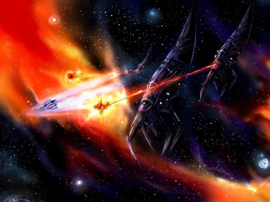 Mass Effect 3: Chase by Lavi-kun
