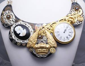 Bib necklace steampunk