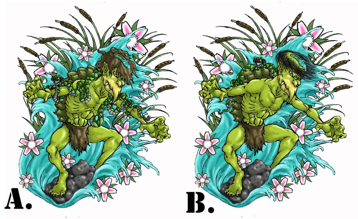 kappa tattoo comparison by crucifer01 on deviantart. Black Bedroom Furniture Sets. Home Design Ideas