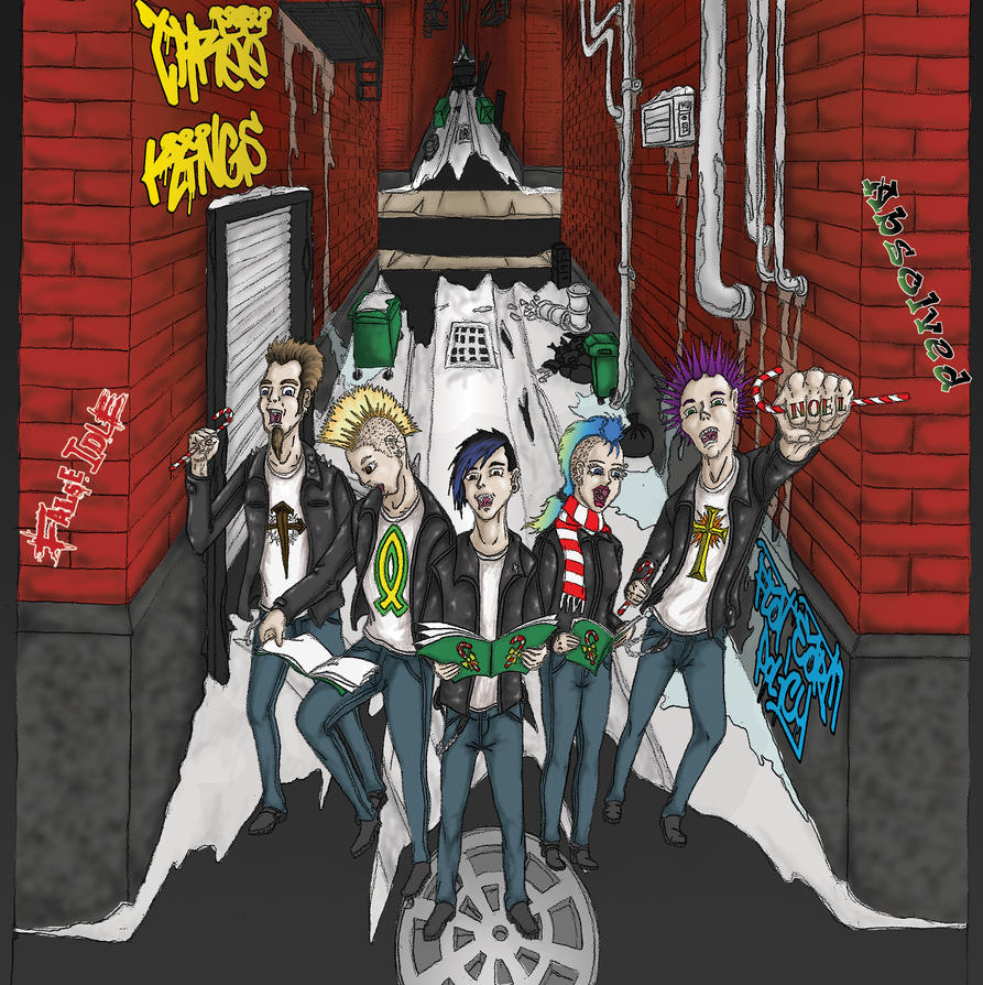 Punk Christmas album Cover art by Crucifer01 on DeviantArt