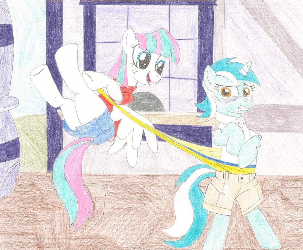 Request - Blossomforth wedgies Lyra by wjmmovieman on ... Rainbow Dash Wedgie