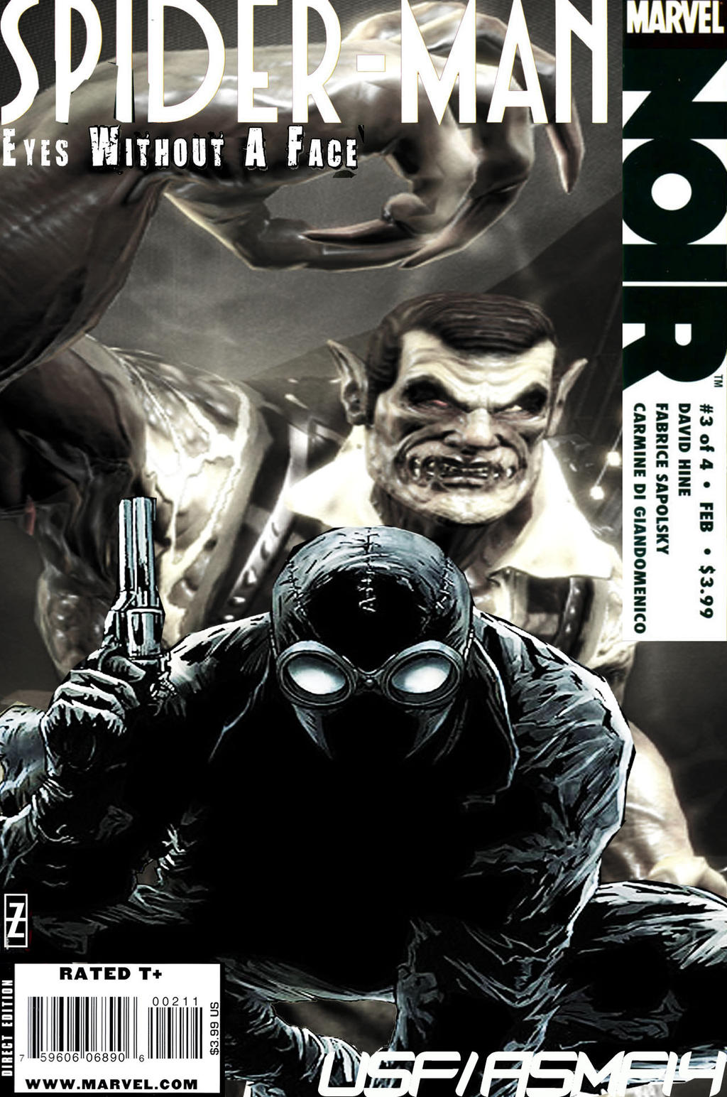 spider-man noir eyes without a face 1 variant marvel 2009