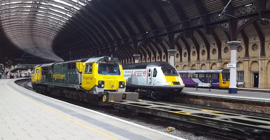 Mixed Traffic at York Station. by carlos62