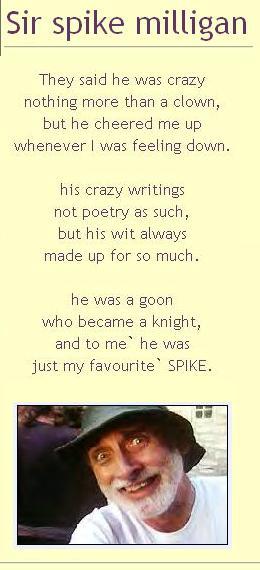Sir Spike Milligan Poetry By Carlos62 On Deviantart