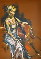 Cellist by BRipin