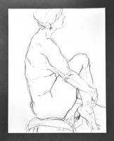 Woman on Stool by BRipin