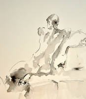 Sarahs Back ink sketch by BRipin