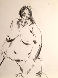 Charcoal study for A Woman: by BRipin