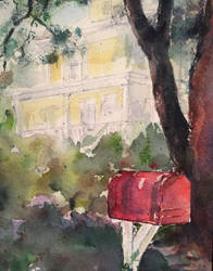 Red Mailbox by BRipin