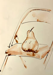 Pear on a Chair