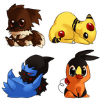 pokemon chibis by caydett