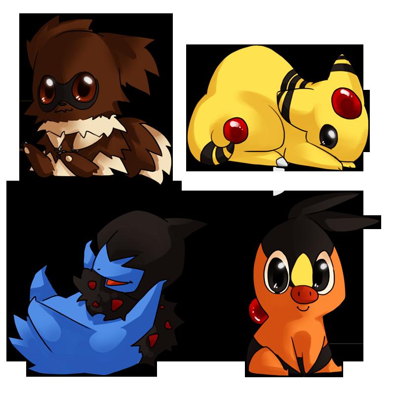 pokemon chibis by caydett