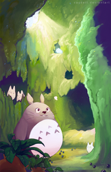 Totoro by caydett