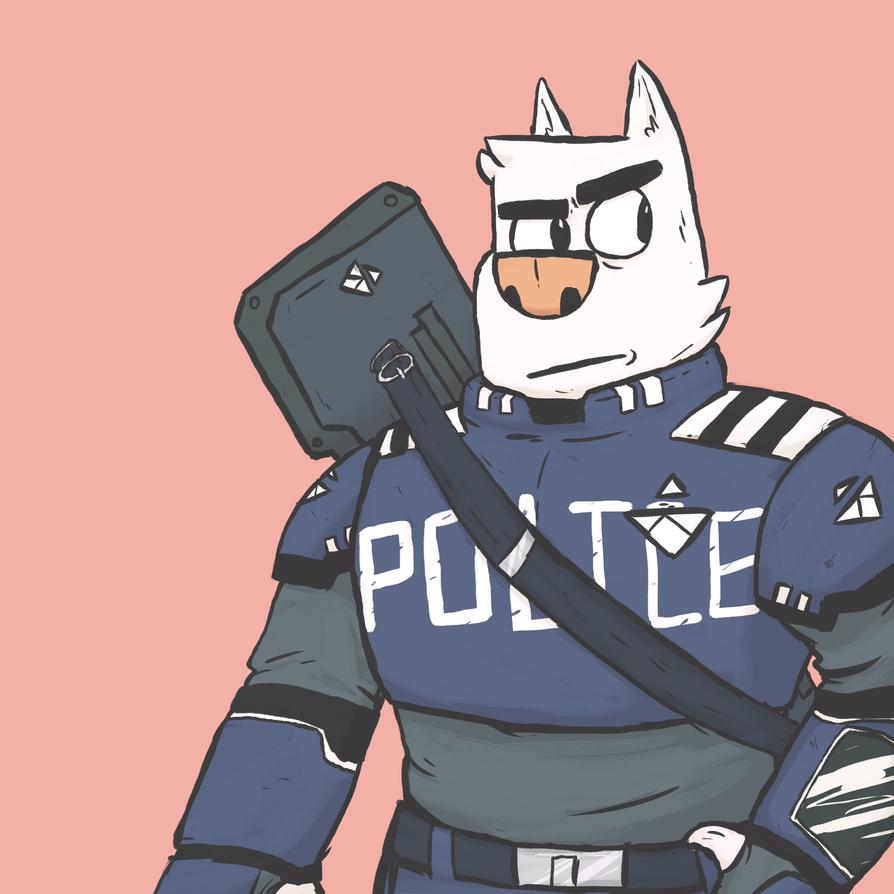 Police Dog. by Pikachuvz