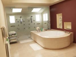 Bathroom -Quiet interior 2- by 3Dswed