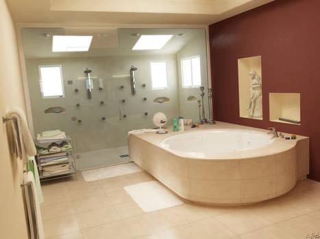 Bathroom -Quiet interior 2-