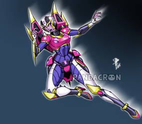Blackarachnia/Arcee Fusion (Commission) by synth-brave