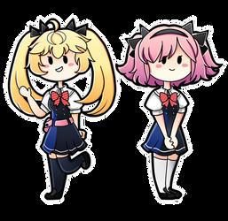 Commission ~ Michiru and Sachi [+Speedpaint] by PixelatedFairy