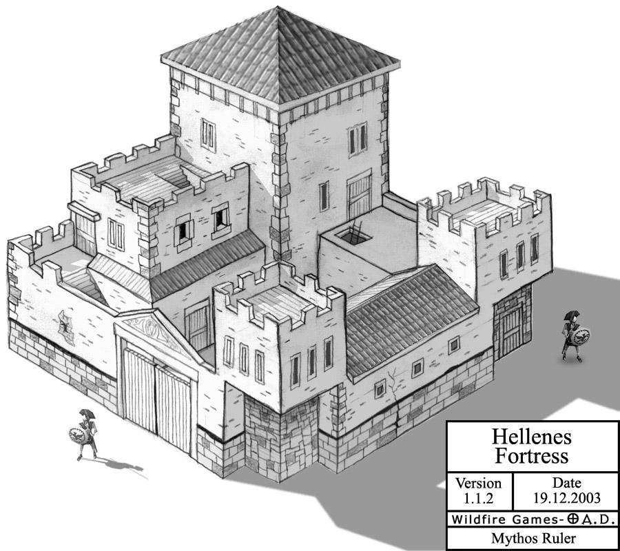 Hellenes Fortress by MythosRuler