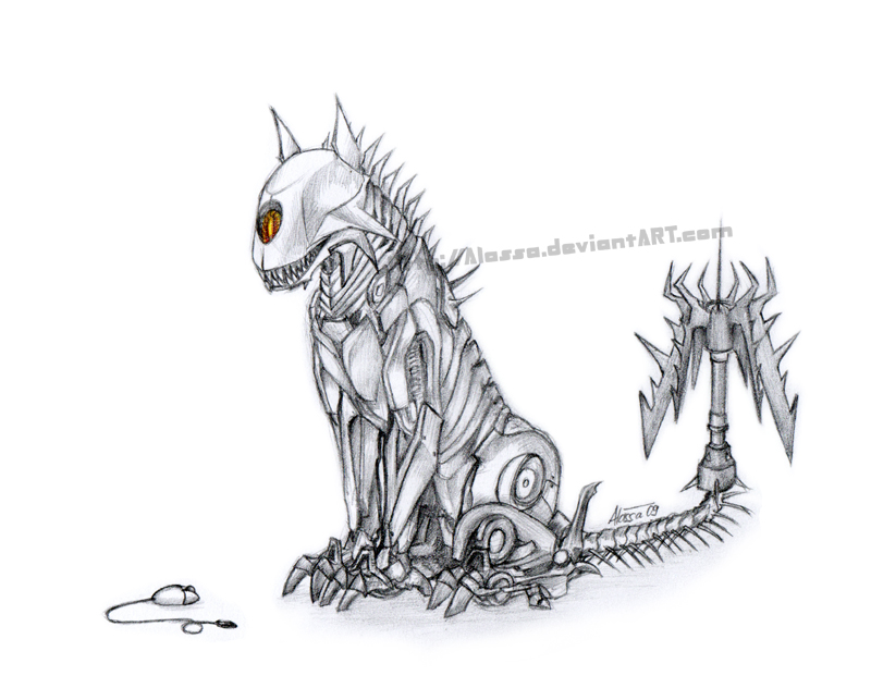 Line Drawing Mouse : Ravage and mouse by alassa on deviantart