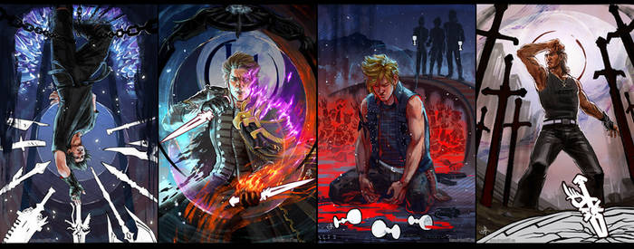 FFXV Tarot Cards - Four of Brothers