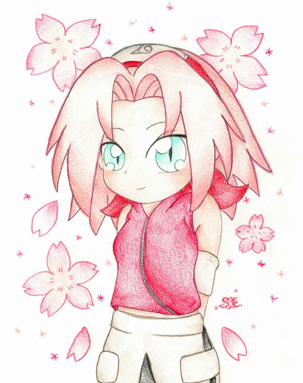 ~Chibi Sakura Haruno by foreverbluejeans