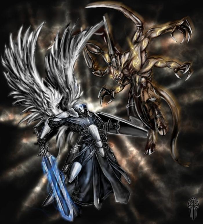 angels and demons battle art - photo #21