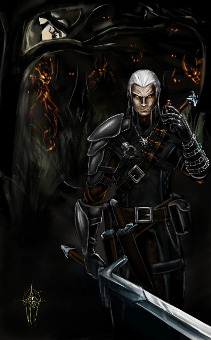 Geralt, the white wolf by alcomando