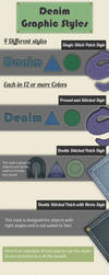 Denim Graphic Styles for Illustrator by JaneVision
