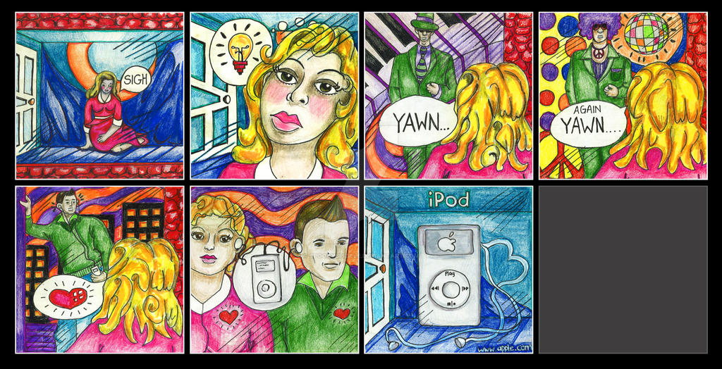 Ipod Commercial Storyboard By Spookyspittle On Deviantart