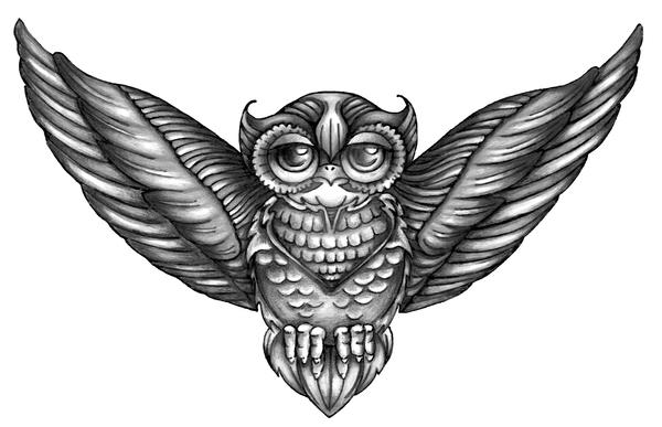 owl chest tattoo i by spookyspittle on deviantart. Black Bedroom Furniture Sets. Home Design Ideas