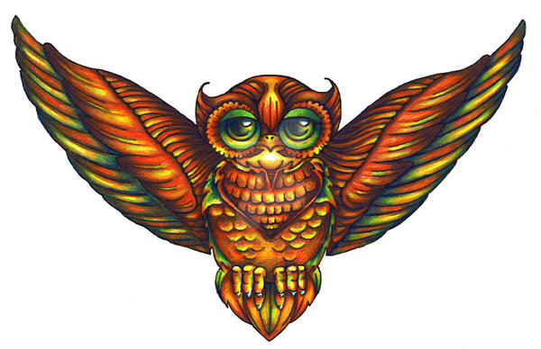 Owl Chest Tattoo II by spookyspittle on DeviantArt