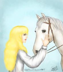 Oscar with her horse