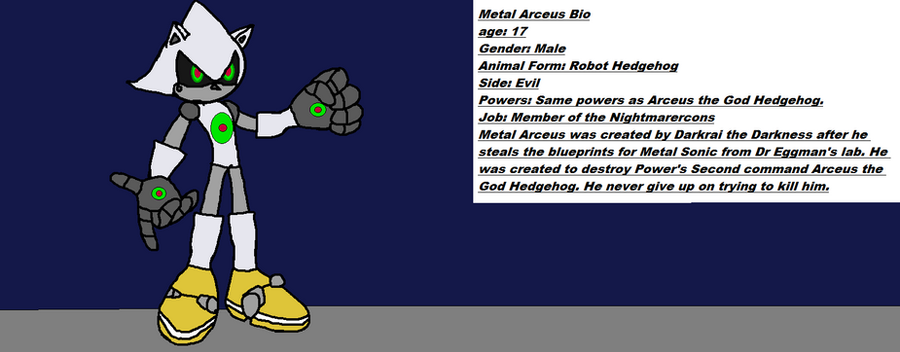 Metal Arceus Bio by Power1x