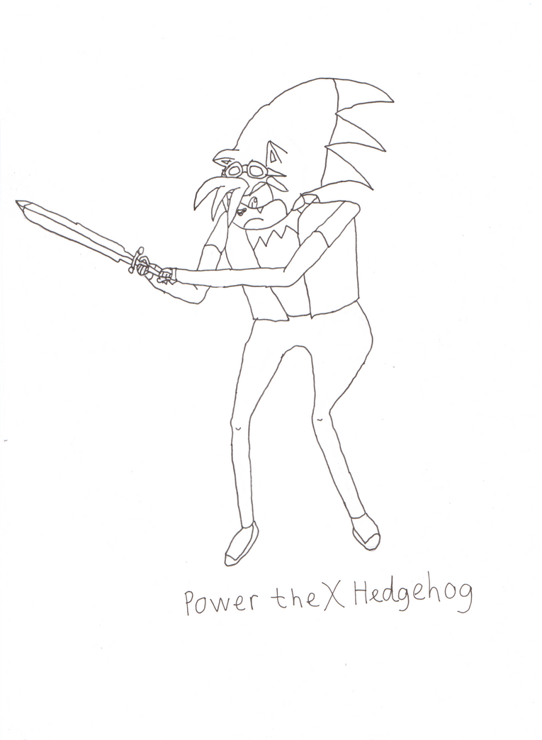 Power the X Hedgehog outline by Power1x