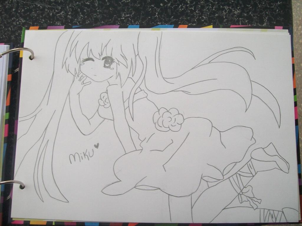 Miku Hatsune [draw] by Chica-Otaku
