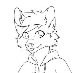 free to use vulpine/canine icon