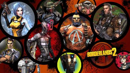 Borderlands 2 Wallpaper - Character Round Up by MattNixon93