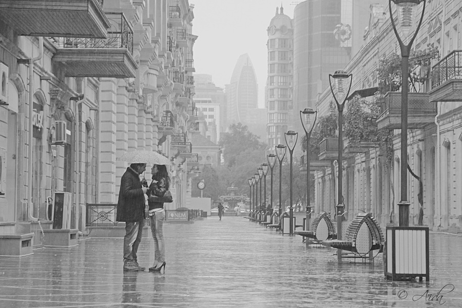 In the rain by AidaBabayeva