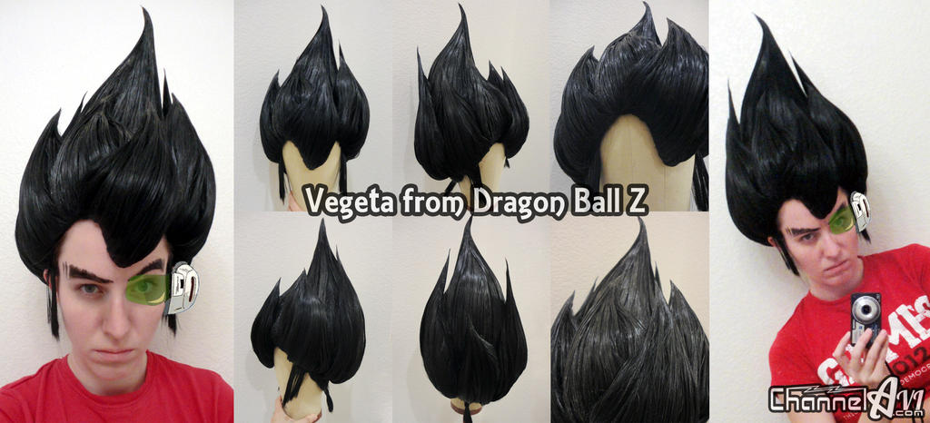 DBZ Vegeta Wig Commission by EmmyLou