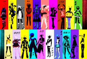 20 Vocaloid voices sing Rolling Girl