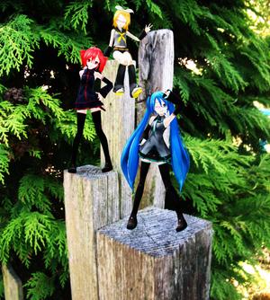 MMD/MME Miku, Teto and Rin IRL