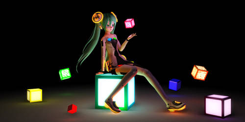 [:Glow Series:] MMD Tell Your World Cubes_V2 + DL